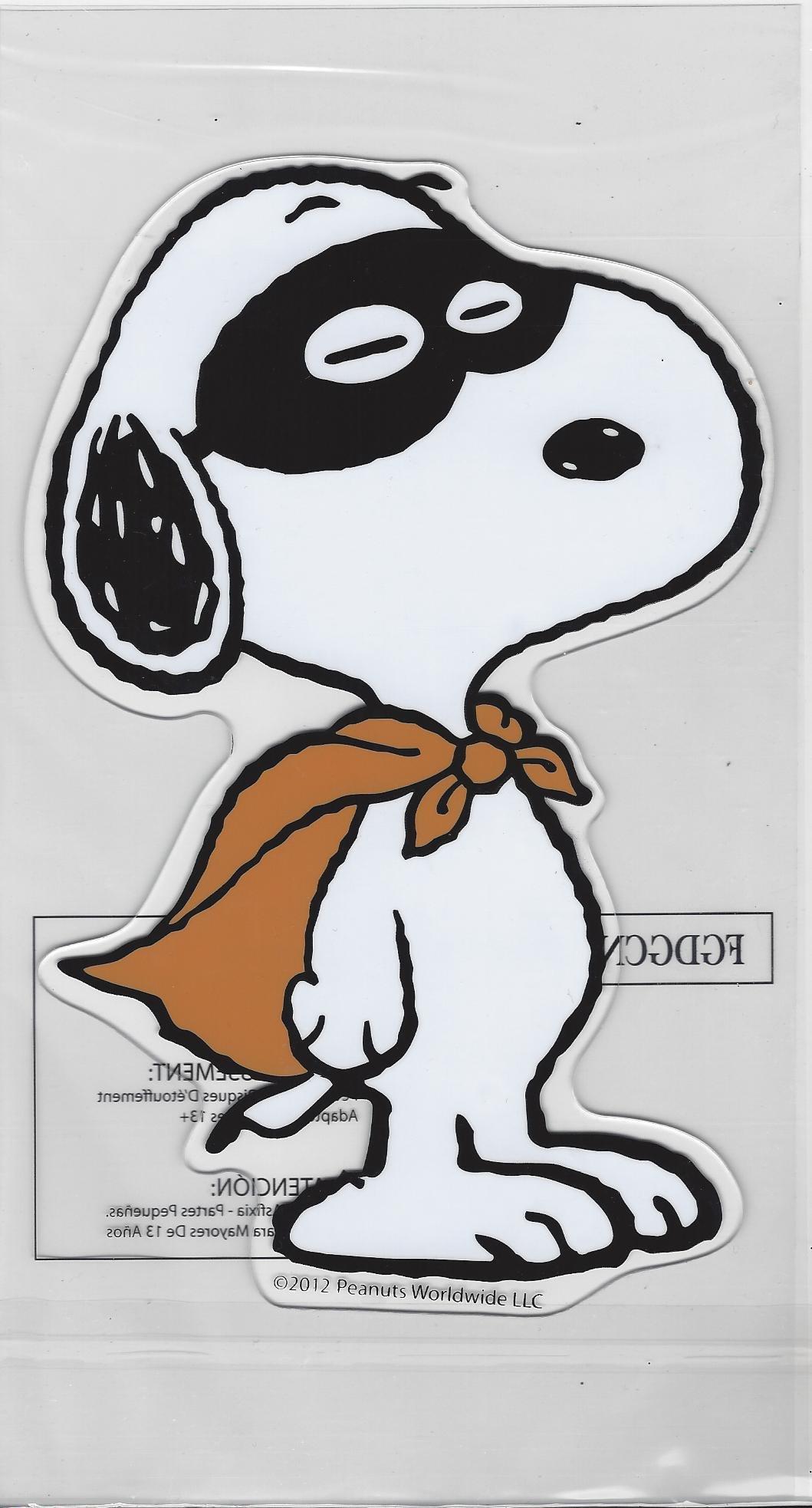 Peanuts Snoopy Halloween Window Gel Cling