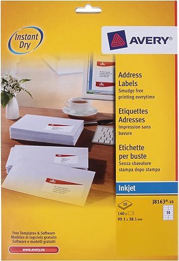 Avery Dennison - Etiquetas de dirección: Amazon.es: Oficina y papelería