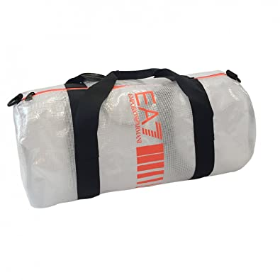 Emporio Armani EA7 sac de sports homme bandoulière en Nylon 7 lines blanc 0220a1eacf4