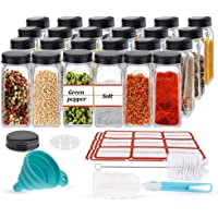 24PCS Glass Spice Jars, Small Items Storage and Organization, Glass Mason Jars with Lids, Seasoning Containers, Spice…