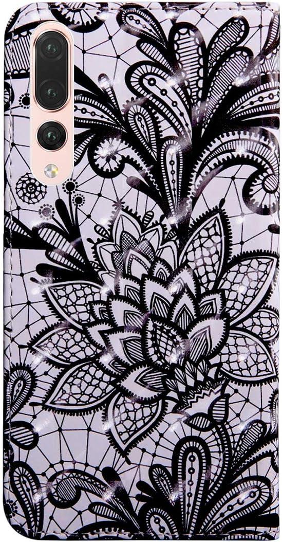 Peint /Étui Housse en 3D PU Cuir Flip Case de Protection Portefeuille Etui Cover pour Huawei P20 Lite Cas avec Stand Magn/étique Fonction Housse Huawei P20 Lite SHUYIT Coque Huawei P20 Lite