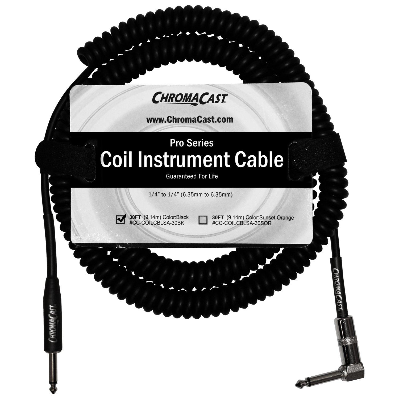 Amazon.com: ChromaCast Instrument Cable (CC-COILCBLSA-30BK): Musical ...