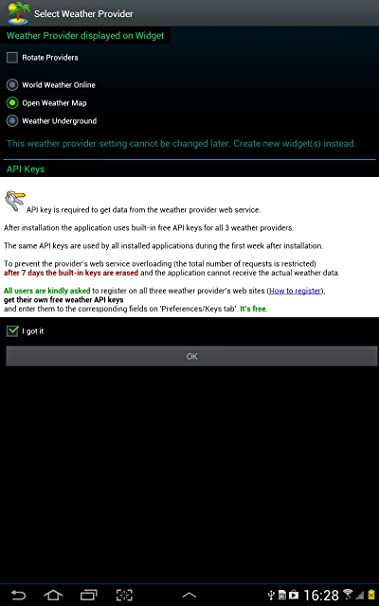 Amazon com: Triplex Weather Widget: Appstore for Android