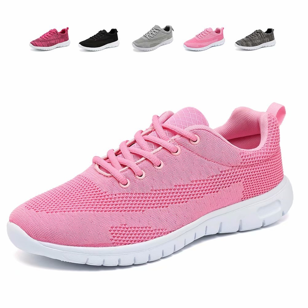 CIOR Men's Women's Running Shoes Fashion Sport Lightweight Walking Sneakers,WPS,Pink,40