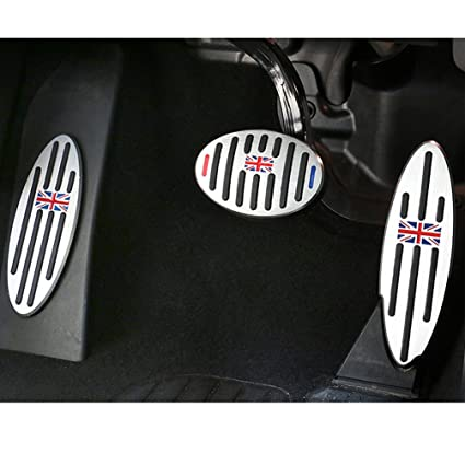 Jaronx For BMW Mini Cooper Pedal Covers, Anti-slip British Flag Pedals No Drill