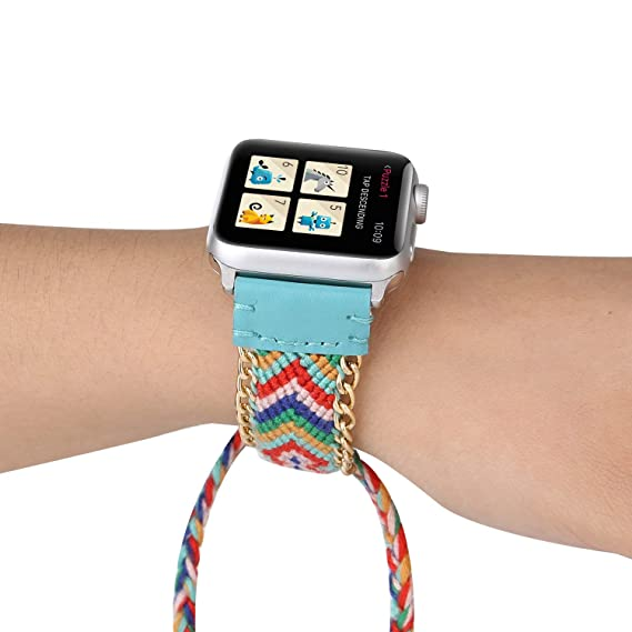 Amazon.com: 40 40mm for Apple Watch Band for Smart Watch ...