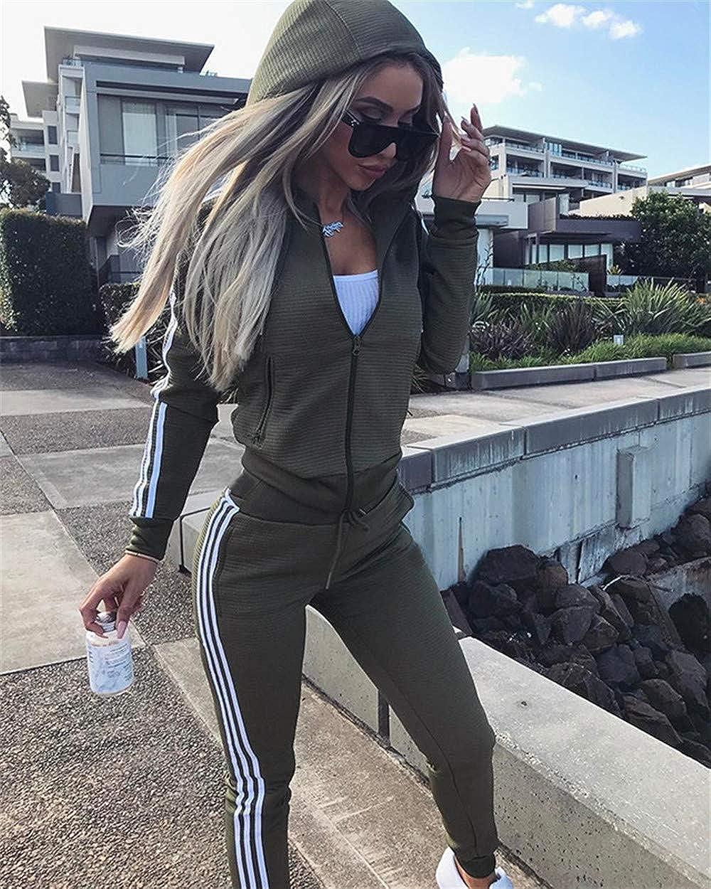 Damen Trainingsanzug Hausanzug Hoodie Sweatshirt Hose Jogginganzug Fitness Sport