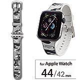 エレコム Apple Watch バンド 44mm/42mm シリコン 迷彩   カモフラ(ホワイト) AW-44BDSCCMW