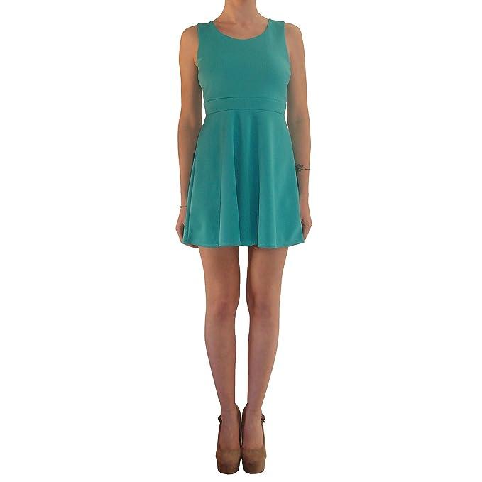 6505b87aa4e09 Abito Donna Elegante Da Cerimonia Corto Scollato Tubino Verde Estivo Vestito  Da Sera Dress Sexy (M)  Amazon.it  Abbigliamento