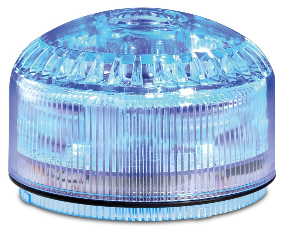 Federal Signal SLM500B Streamline Modular Low Profile Combination LED/Sounder, Blue, Required Base Sold Separately, Polycarbonate
