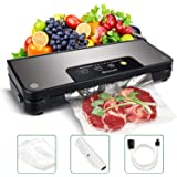 Vacuum Sealer Blusmart 80Kpa Stainless Steel Food Sealer Machine Air Sealing Systemfor Food Saver Storage with Dry and Moist