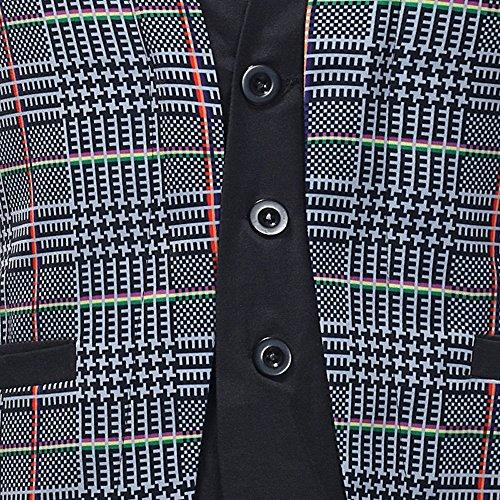 Men Coats Hot WEUIE Men Casual Printed Sleeveless Jacket Coat British Suit Vest Blouse (5XL, Gray) by WEUIE (Image #5)
