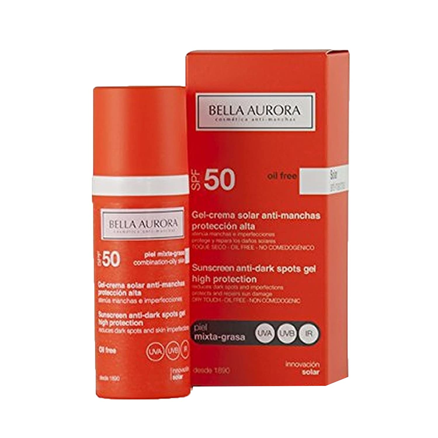 Bella Aurora Solar Anti-Stain Gel with Sunscreen SPF 50 for Combination or Oily Skin 8413400003113