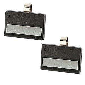 2 Garage Door Remote Opener for Liftmaster 971LM (1997-2005) Orange/Red Button - Security+ 390 Mhz