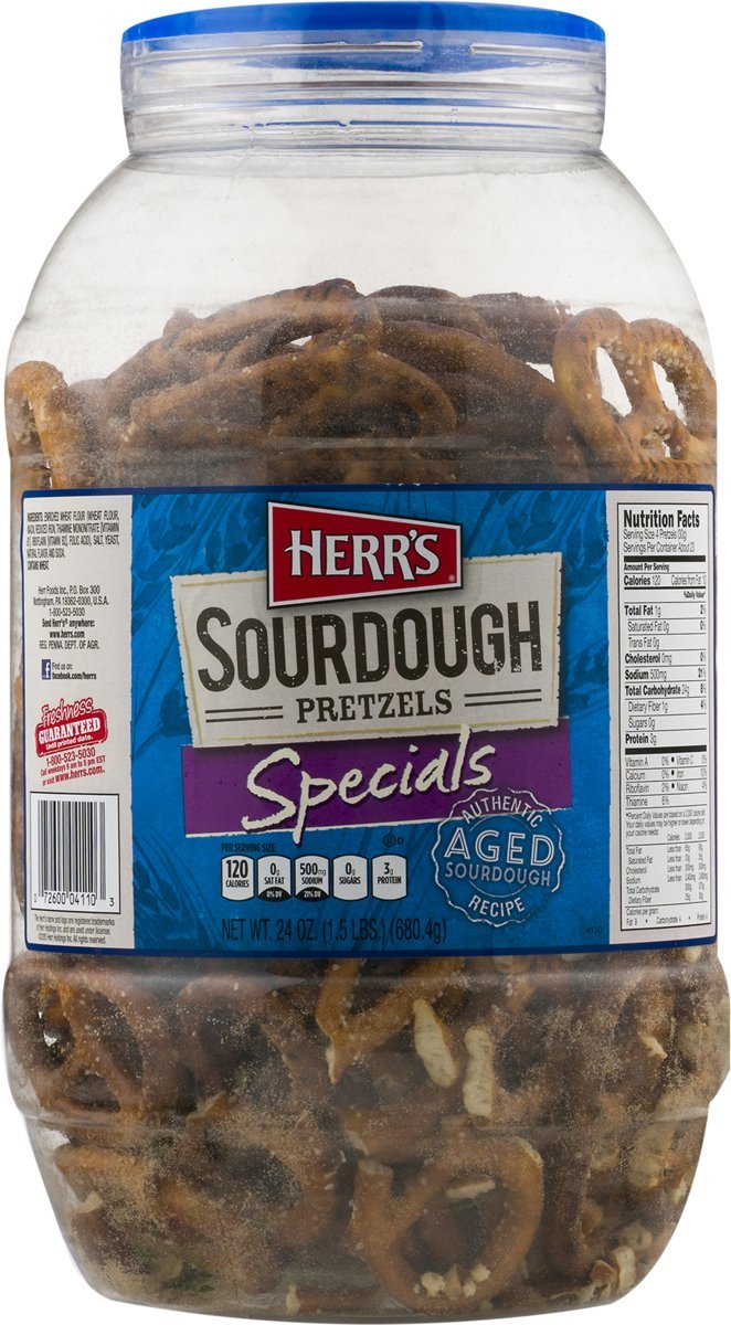 Herr's Authentic Aged Sourdough Specials Pretzel Barrel