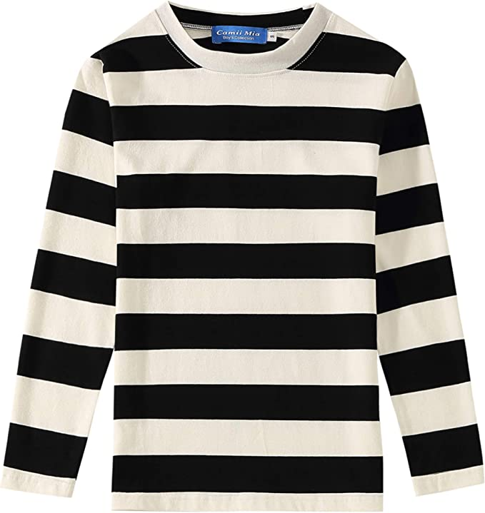Famous Stars and-Straps Childrens T-Shirt Casual Classic Cotton Shirt with Round Collar Black
