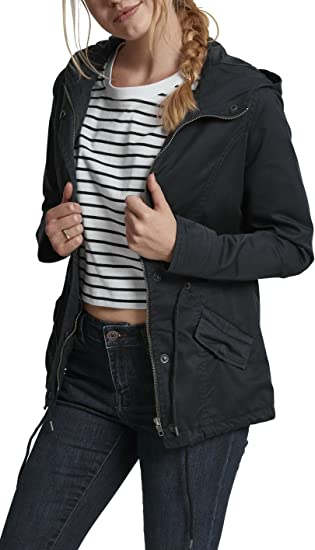 TALLA XS. Urban Classics Ladies Basic Cotton Parka Mujer