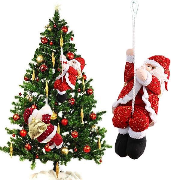 QXYMY Santa Claus Cuerda de Escalada para el árbol de Navidad ...