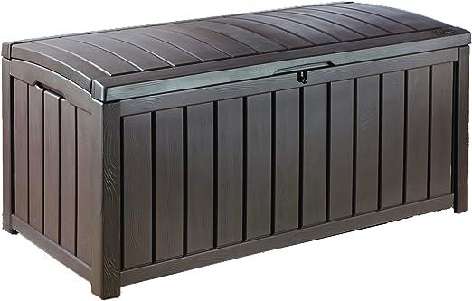 Keter - Arcón exterior Glenwood, Capacidad 390 litros, Color marrón: Amazon.es: Jardín