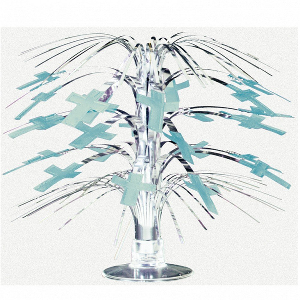 Amscan Blue Radiant Cross Mini Cascade Centrepiece Amscan International 240028.11