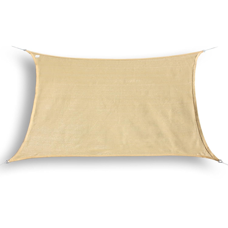 HanSe® Marken Sonnensegel Sonnenschutz Segel Rechteck 5x7 m Sand
