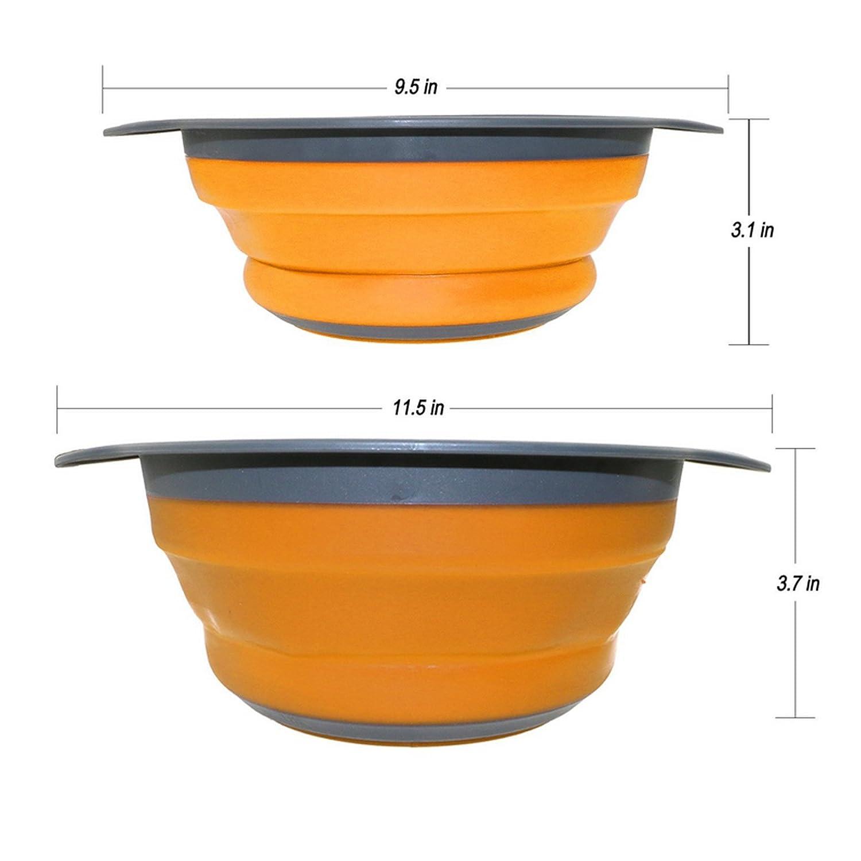 Ruesious Escurridor Plegable Colador de Silicona Cesta de Verduras Frutas 16f97a5910e4