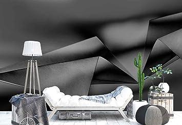 Papier Origami Ebene Noir Et Blanc Papier Peint Photo Non Tisse