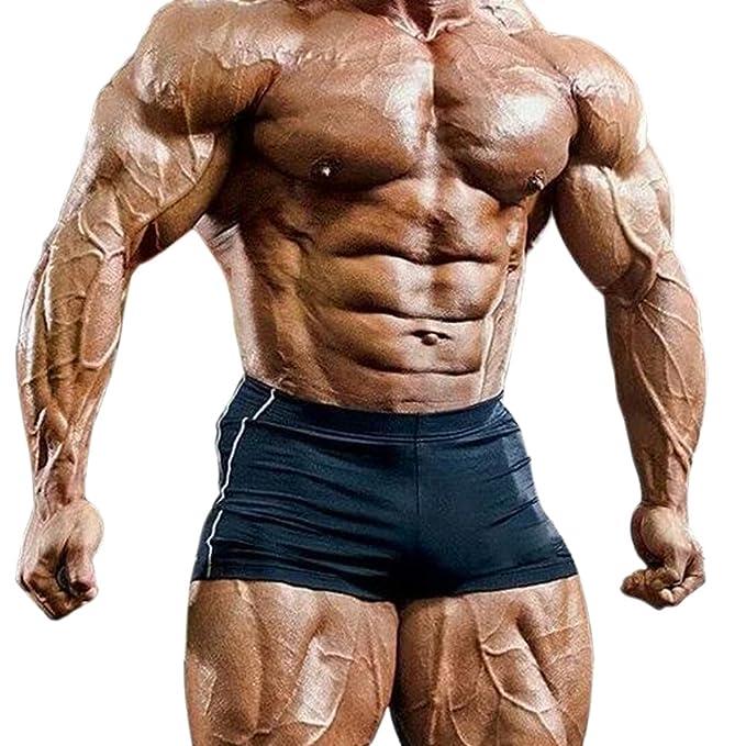 Musclealive Entrepierna De Hombre 4 Y Poliéster Para Gimnasia Cortos Lycra Apretado Pantalones Culturismo Ibfyv7Yg6