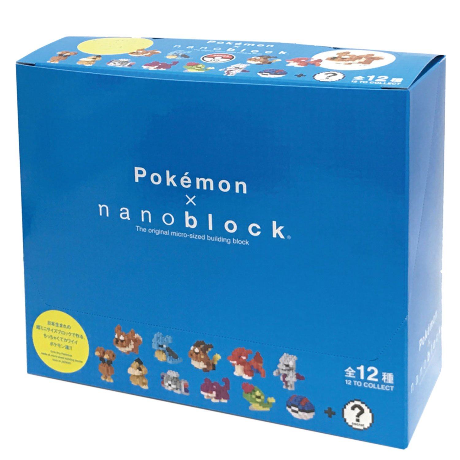 Nanoblock Mini Pokemon Series 02 NBMPM_ 02 S BOX Item 1 BOX = 12 pieces, 12 types