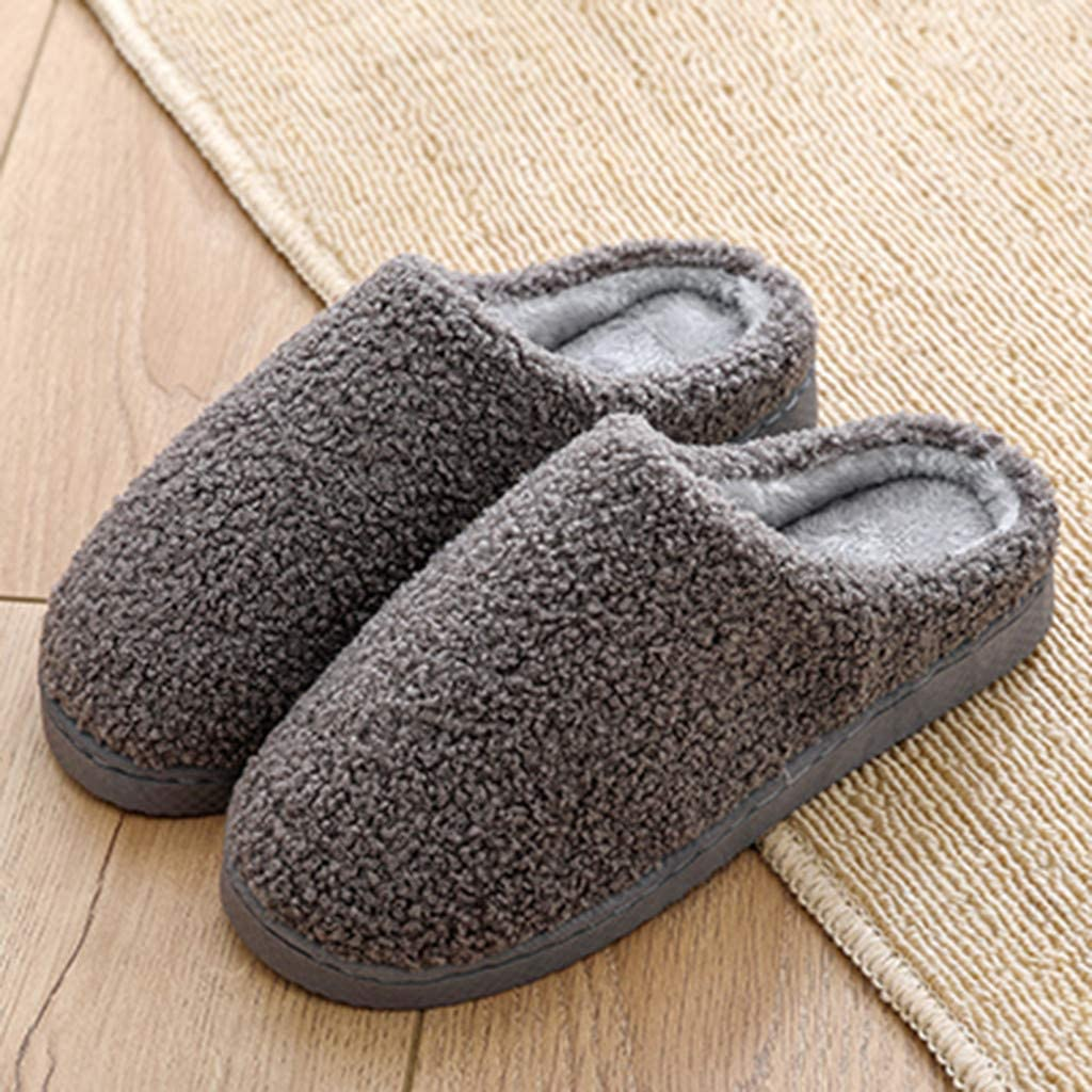 YiYLunneo Slippers for Women Mens Winter Warm Non-Slip Floor Home Slippers Indoor Outdoor Shoes