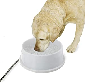 K&H Pet Products 2020 Thermal-Bowl Heated Cat & Dog Bowl 1.5gal. Granite 25W