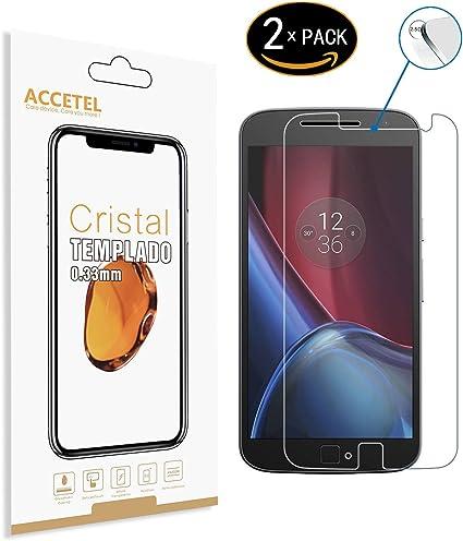 Motorola Moto G4 Plus Protector cristal templado: Amazon.es ...