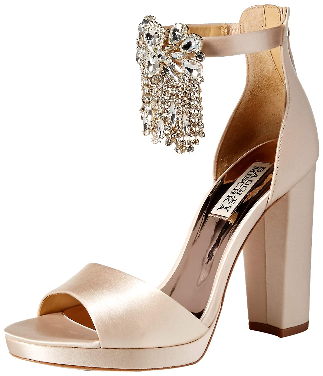 Soft Nude Badgley Mischka Womens Fascinate Heeled Sandal