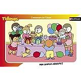 Nathan - 86003 - Puzzle Enfant avec cadre - Le Gâteau d'anniversaire de T'choupi - 15 Pièces