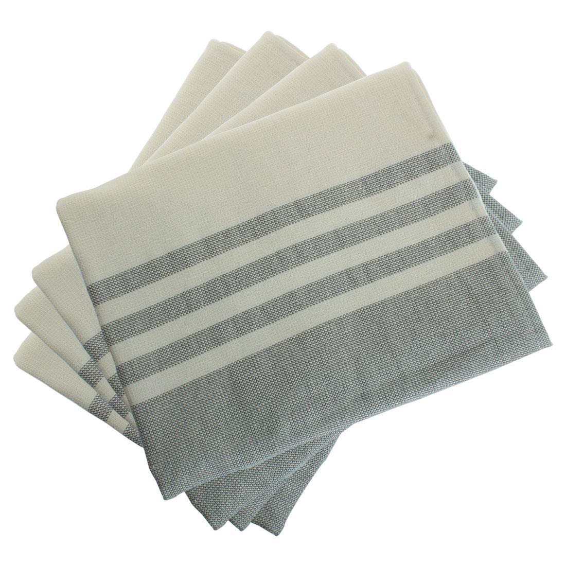 uxcell 4 Pack Cotton Dish Towels 26'' x 16'', Machine Washable Highly Absorbent Kitchen Dishcloths, Napkins and Tea Towels Gray