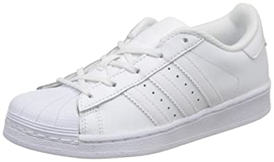 Adidas Originals Superstar Foundation, Sneakers Basses Garçon, Blanc (Footwear White/Footwear White