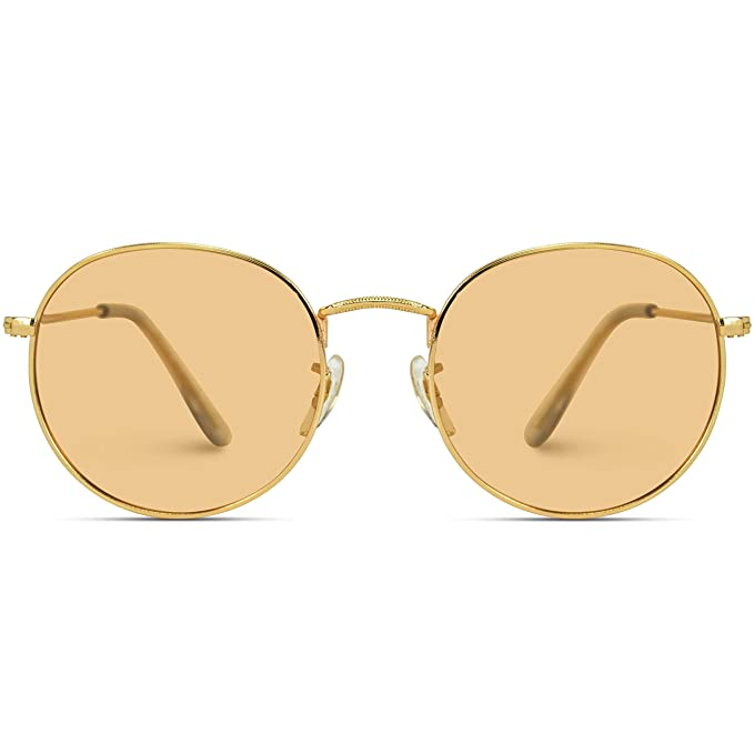 Amazon.com: WearMe Pro - Gafas de sol polarizadas redondas y ...