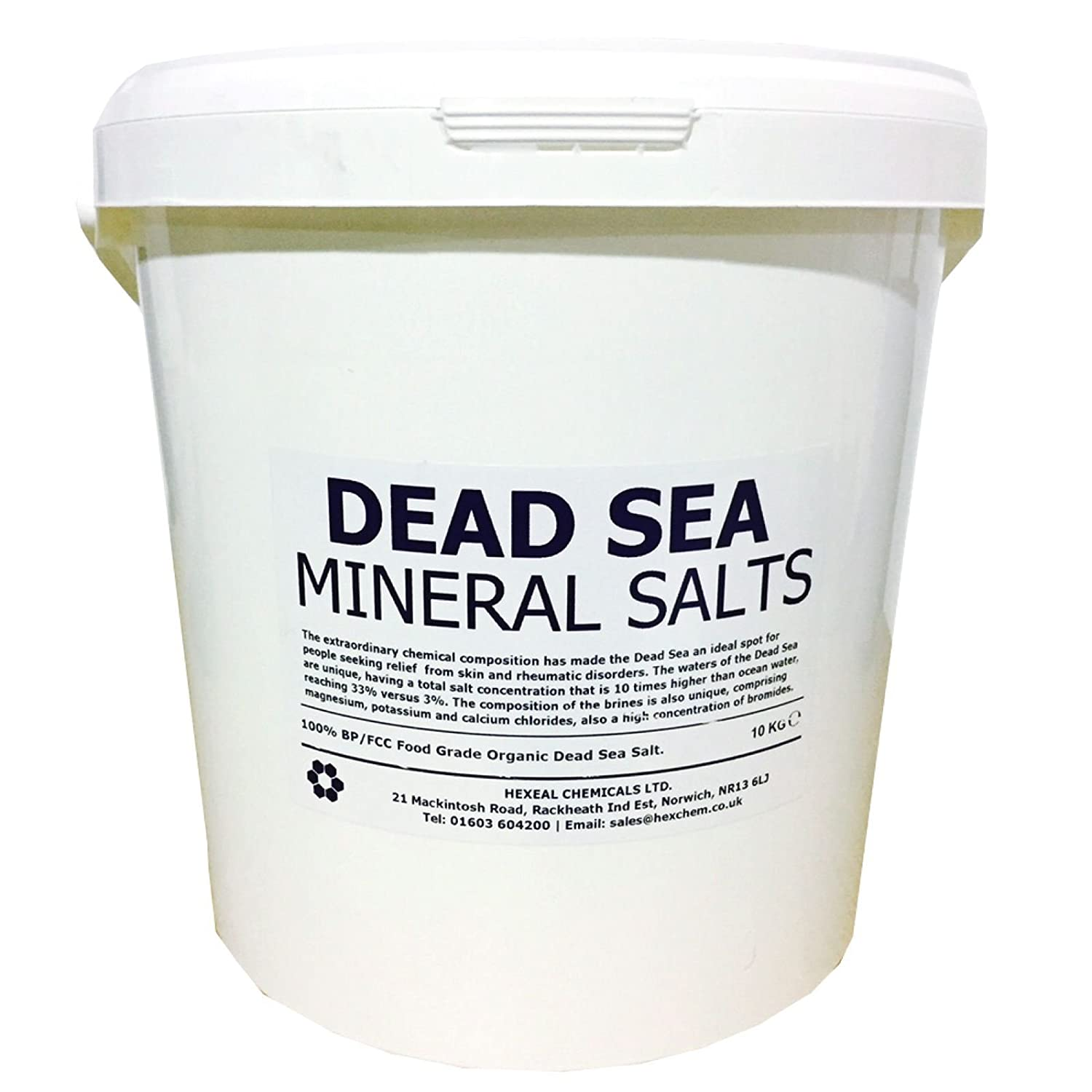 DEAD SEA BATH SALTS | 10KG BUCKET | 100% Natural Organic | FCC Food Grade Dead Sea Works Ltd.