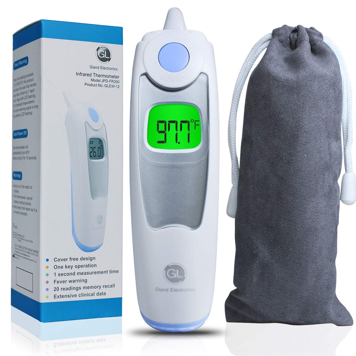 Baby Ear Thermometer for Fever Gland Medical Digital Ear Thermometer for Baby, Infants,Toddlers, and Adults FDA Approved by GL Gland Electronics (Image #9)