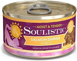 Soulistic Moist & Tender Salmon Dinner in Gravy Wet Cat Food, 3 oz., Case of 12, 12 X 3 OZ