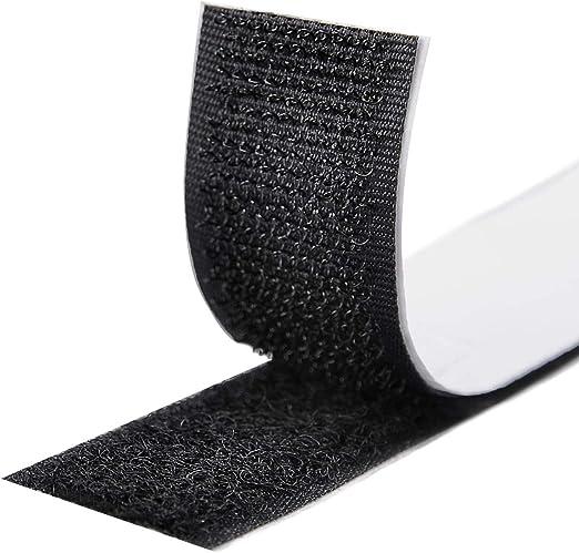 Neu Klettband Klettverschluss selbstklebend 20mm breit extra starke Fixierung DJ