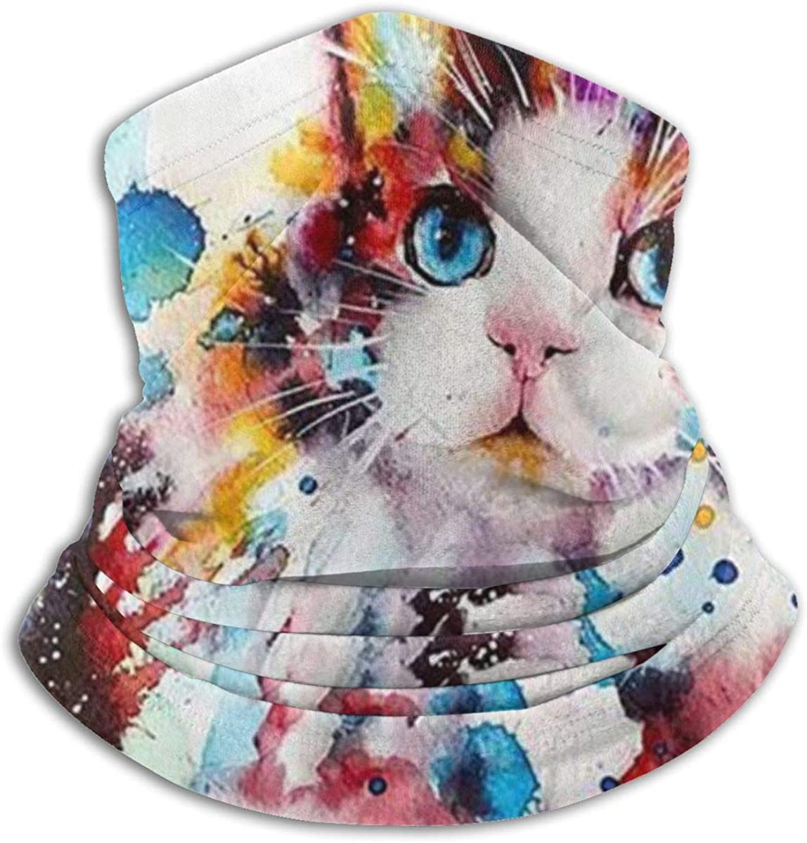 Cat Abstract Paint Splatter Casual Protección solar Gorro máscara pasamontañas para bandana antipolvo