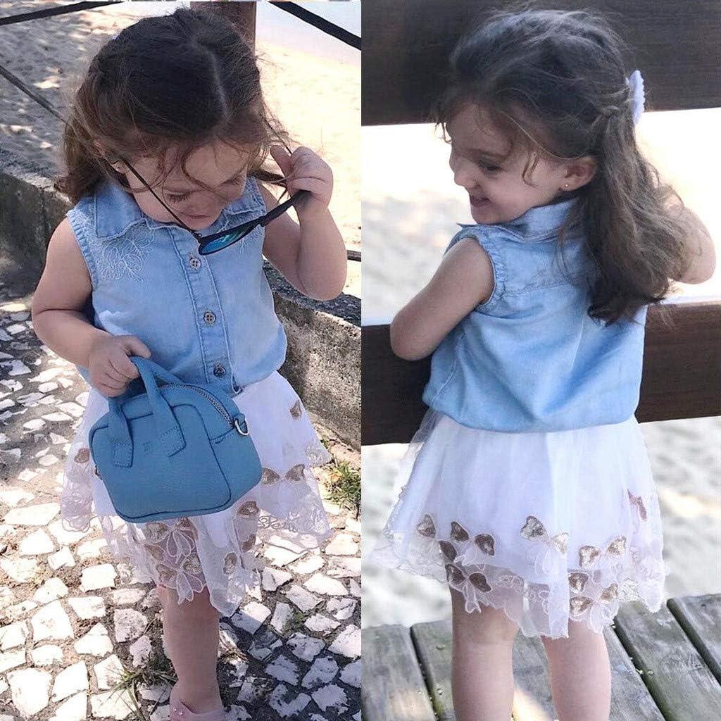 Luckycat Primavera Verano Niñas Bebé Princesa Vestidos Manga Larga ...