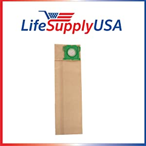 LifeSupplyUSA 50 Packs of 10 (500 count) Vacuum Bags Compatible with Windsor Sensor SR12 SR15 SR18 XP12 Versamatic Plus etc