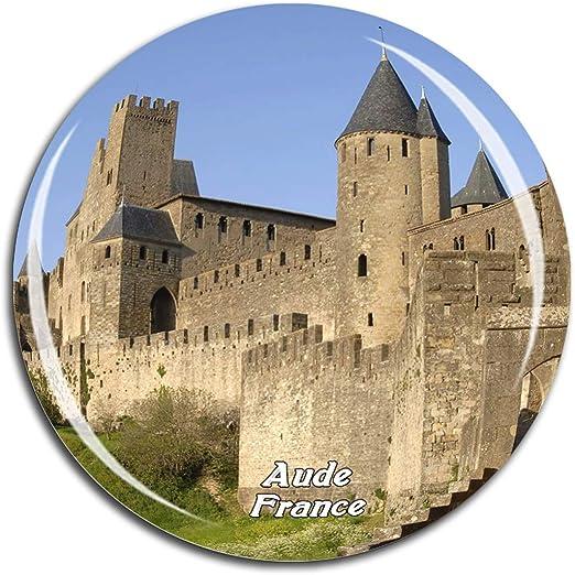 Weekino Francia Castillo de Carcassonne AUDE Imán de Nevera 3D de Cristal de Turismo de la Ciudad de Viaje Recuerdo de la Colección de Regalo Fuerte Etiqueta Engomada del refrigerador: Amazon.es: Hogar