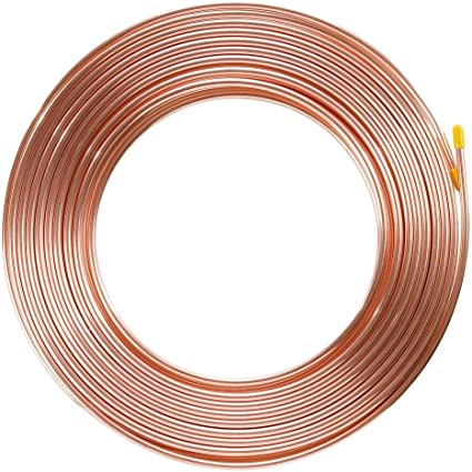 """Brake Pipe Copper Line 1//4/"""" 25Ft Joiner Male Female Nuts Ends Tubing Joint Pipe"""