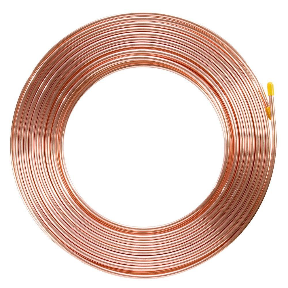 Brake Pipe Copper Line 1/4' 25Ft Joiner Male Female Nuts Ends Tubing Joint Pipe AutoPower