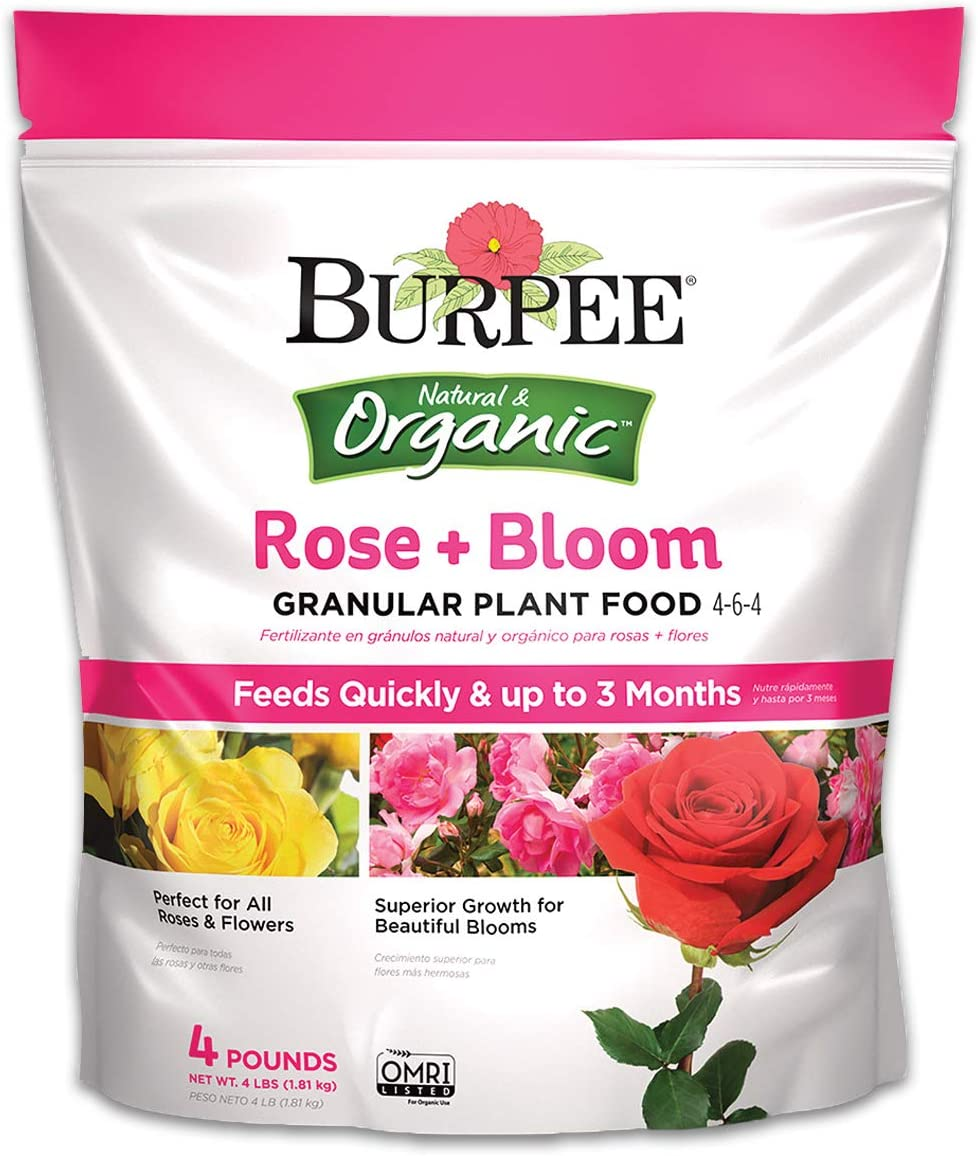 Burpee Organic Rose and Bloom Granular Plant Food, 4 lb