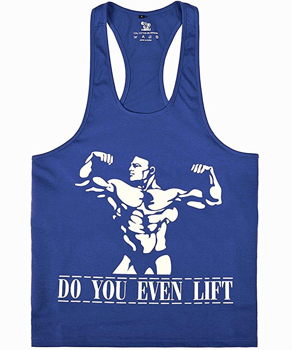 donhobo Tanktop Fitness Herren Sport Stringer Muskelshirt Gym Tank Top Bodybuilding Muscle Shirt Achselshirt