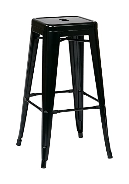 Amazoncom Osp Designs Patterson 30 Inch Metal Backless Barstool